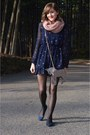 Navy-forever-21-dress-pink-forever-21-scarf