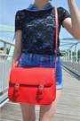 Black-charlotte-russe-shirt-red-side-bag-bag