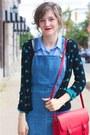 Light-blue-h-m-shirt-red-forever-21-purse