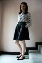 ivory crosses H&M blouse - black with pockets Miss Selfridge skirt