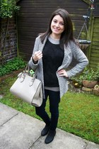 coatigan Primark jacket - skinny Topshop jeans - leather next bag