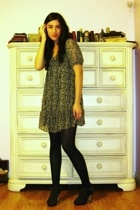 Target dress - Target tights - Steve Madden shoes