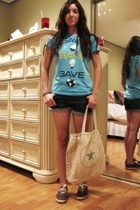 Old Navy shirt - Forever21 shorts - Keds shoes - Macys purse