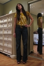 JCrew blouse - vintage belt - Banna Republic pants - Steve Madden shoes