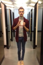 Topman cardigan - Topman jeans - Uniqlo top - Sailor Jerry for Converse sneakers