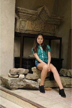 no name shirt - Mango shirt - Zara boots - Primark shorts