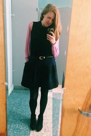 ann taylor sweater - sam edelman boots - madewell top - striped madewell skirt