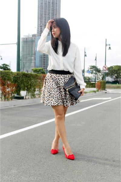 white polo blouse Bayo top - black Secosana bag