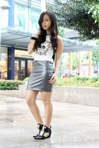 digital print Styl- ish MNL top - Bazaar skirt
