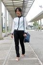 Navy-forever-21-bag-ivory-staccato-sandals-black-mango-pants