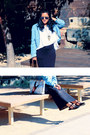 Denim-jacket-zara-jacket-oversized-shirt-topshop-shirt-clubmaster-rayban-sun