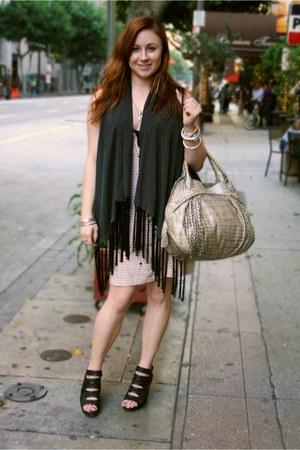 Vena Cava for Aqua dress - Furla purse - Jeffrey Campbell heels - Theory vest