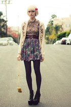 camel sequined Urban Outfitters vest - red velvet incognito accessories