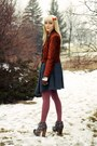 Tawny-suede-shoppalu-jacket-light-pink-knit-urban-outfitters-sweater