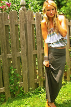 cropped top free people top - maxi skirt TJ Maxx skirt - cuff free people bracel