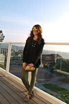 long cardigan Loft sweater - H&M leggings - leopard print Target loafers