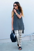 plaid Old Navy pants - sleeveless Forever 21 sweater