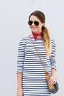 Red-forever-21-boots-stripes-forever-21-dress-bandana-forever-21-scarf