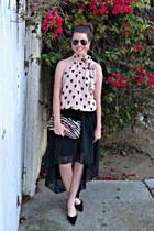 pleated skirt Forever 21 skirt - aviator Urban Outfitters sunglasses