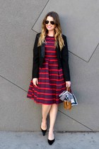 tuxedo Forever 21 blazer - striped Downeast Basics dress