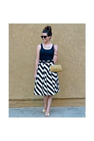 stripes Downeast Basics skirt - Warby Parker sunglasses - tank top Gap top