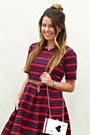 Stripes-downeast-basics-dress-ace-oasap-bag-leopard-target-belt