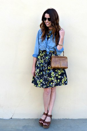 chambray Forever 21 shirt - floral print asos dress