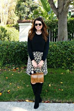 leopard print banana republic dress - suede Shoedazzle boots