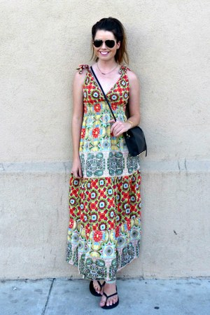 maxi dress Angie dress - cross-body H&M bag - flip flops Old Navy sandals
