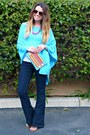Flares-forever-21-jeans-sky-blue-poncho-lilly-pulitzer-sweater