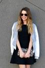 Black-h-m-dress-varsity-charlotte-russe-jacket-metallic-forever-21-loafers
