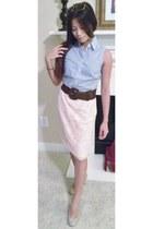 Forever 21 sunglasses - H&M skirt - Nine West heels - banana republic blouse