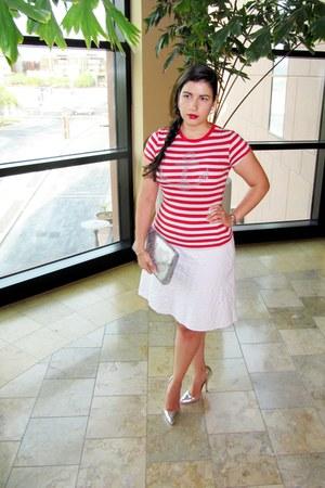 clutch H&M bag - Shoedazzle pumps - Zara top