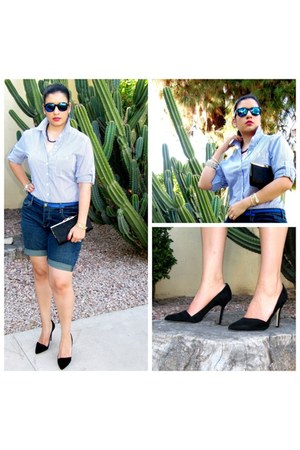 navy Mossimo shorts - black Aldo pumps