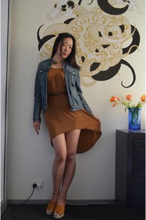 brown asos dress - bettye muller wedges