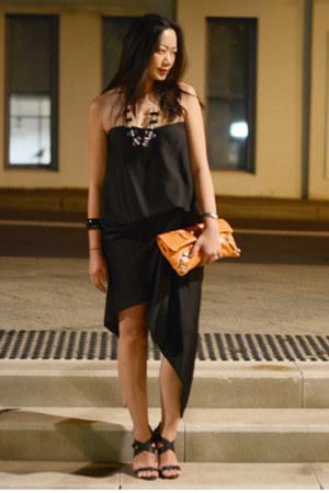 BCBG dress - balenciaga bag - Marc by Marc Jacobs necklace