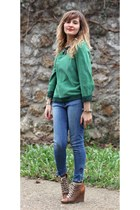 Heimstone sweater - H&M jeans - Chloe wedges