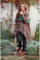 brown By Basi cardigan - dark gray Zara jeans - burnt orange Isabel Marant boots
