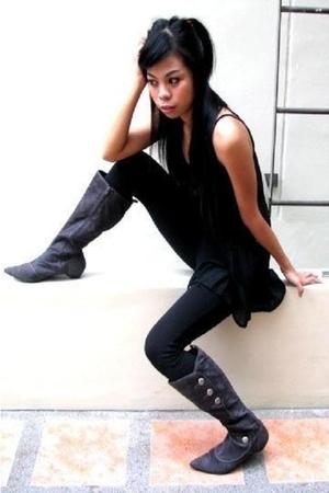 Zara top - belt - vest - Zara boots
