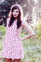 red bow print asos dress - periwinkle Monki flats