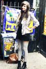 Black-army-vagabond-boots-silver-disco-pony-blazer-black-gina-tricot-shorts-