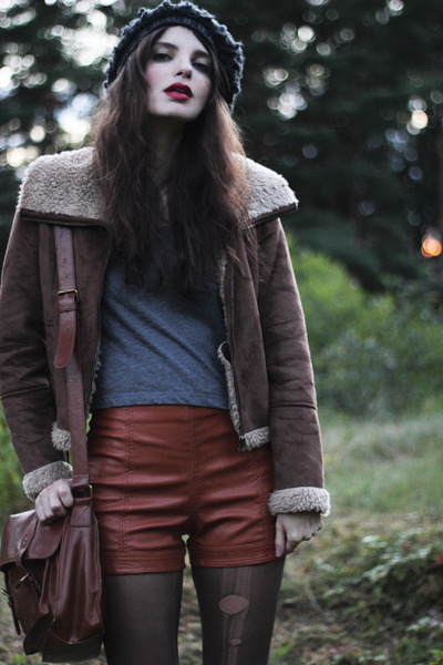 brown lindex jacket - black army Nilson boots - brown satchel Vero Moda bag