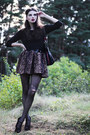 Black-cropped-h-m-sweater-dark-brown-romwe-dress