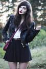 Black-leather-sofifi-jacket-ruby-red-monki-bag