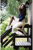 off white fifth avenue shoe repair skirt - sky blue striped Monki shoes