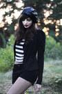 Black-mc-scorett-boots-black-sequined-beret-forever-21-hat
