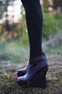 Black-love-dress-black-asos-socks-dark-brown-nelly-wedges
