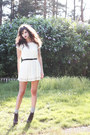White-lace-monki-dress-heather-gray-knitted-lindex-socks-black-leather-litas
