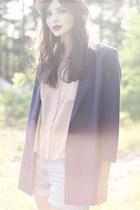 Monki blazer - neutral Monki shirt - sky blue denim Monki shorts