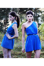 Heather-gray-knitted-lindex-socks-blue-one-shoulder-love-dress